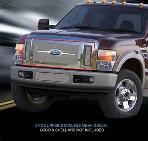 Wire Mesh Grille Grill For 2008 2009 2010 Ford F250  F350