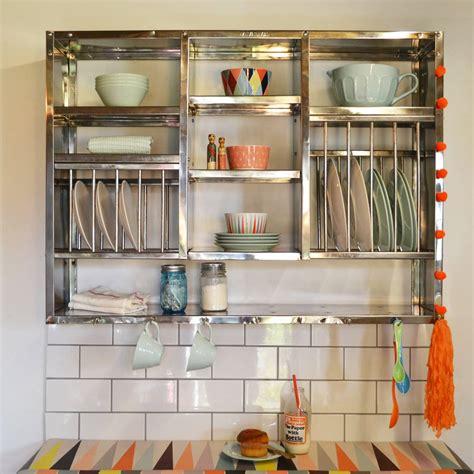 mighty stainless steel plate rack   plate rack notonthehighstreetcom
