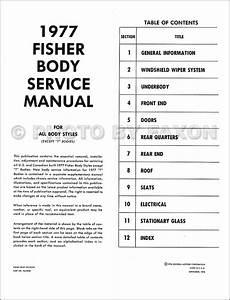 1977 Chevy Body Repair Shop Manual Reprint