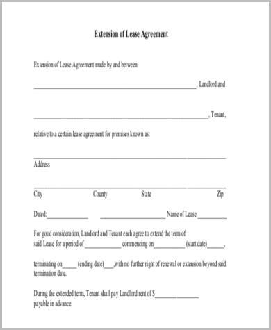 tenancy agreement renewal template lease renewal form sle 9 free documents in word pdf