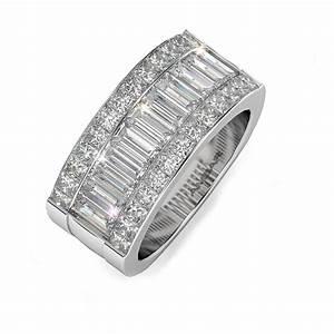 Quadrillion baguette diamond wedding band for Mens wedding rings baguette diamonds