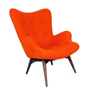 paddington lounge chair in apricot orange dotandbo