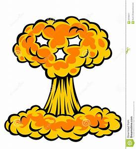 Explosion clipart atom bomb - Pencil and in color ...