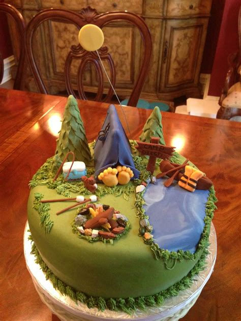 camping themed cake   cake camping cakes