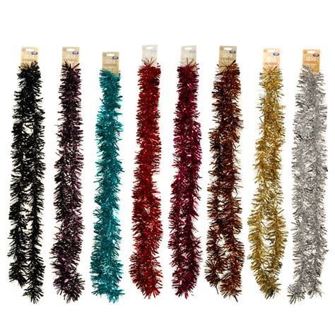 christmas tinsel 2m christmas tree decorations b m