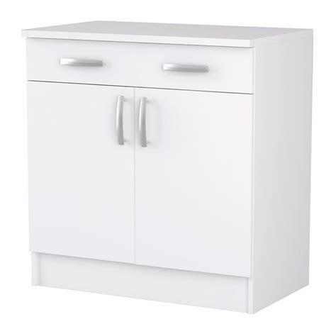 meuble de cuisine blanc meuble de cuisine blanc bas 2 portes et 1 tiroir
