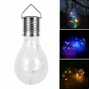 Solar Led Lights Australia Led Solar Powered Hanging Light Bulbs Garden Lights Fence