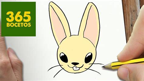 como dibujar conejo kawaii paso  paso dibujos kawaii faciles youtube