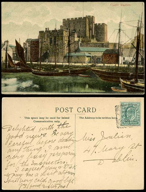 Boat Prices To Isle Of Man by Isle Of Man 1905 Old Colour Postcard Castle Rushen