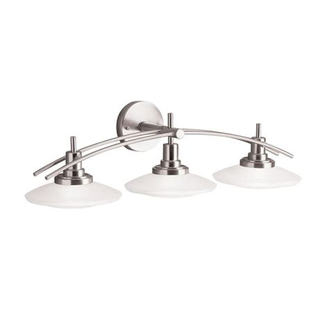 kichler 6463ni brushed nickel structures 30 quot wide 3 bulb
