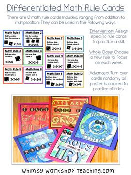 growth mindset math posters  color  whimsy workshop