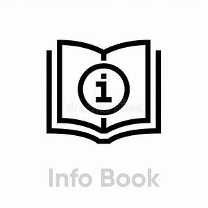 Instruction Manual Book Outline Icon Stock Vector