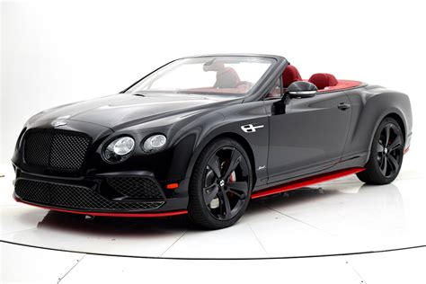 black convertible 2017 bentley continental gt speed convertible black edition