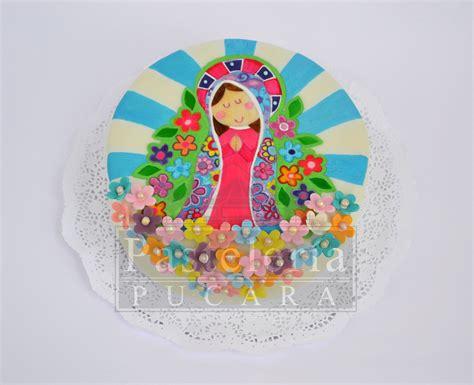 First communion cake Torta primera comunión virgencita