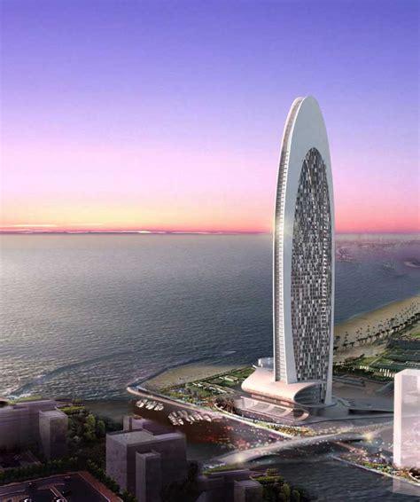 Beach Front Hotel Dubai Uae Tower E Architect
