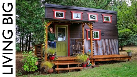 living in a tiny house adorable tiny house built by family and community