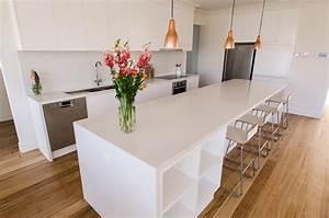 Parkdale - Caesarstone Frosty Carrina Kitchen - Modern
