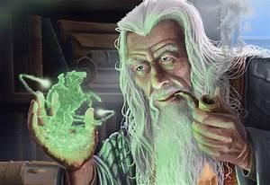 Fantasy Art Magician Sorcerer Old Tube Magic Horseman