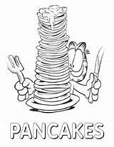 Pancake Coloring Week sketch template