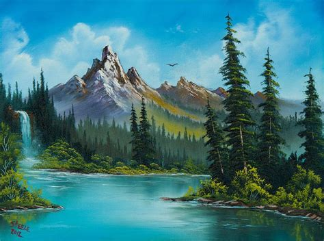 Wilderness Waterfall Painting
