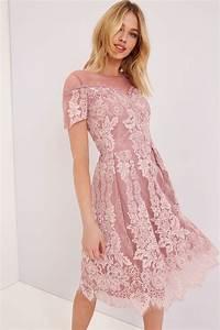 Dusty Pink Lace Dress - from Little Mistress UK