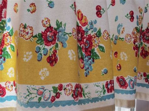 Garden Floral Retro Kitchen Valance 47 X 14 New Fabric