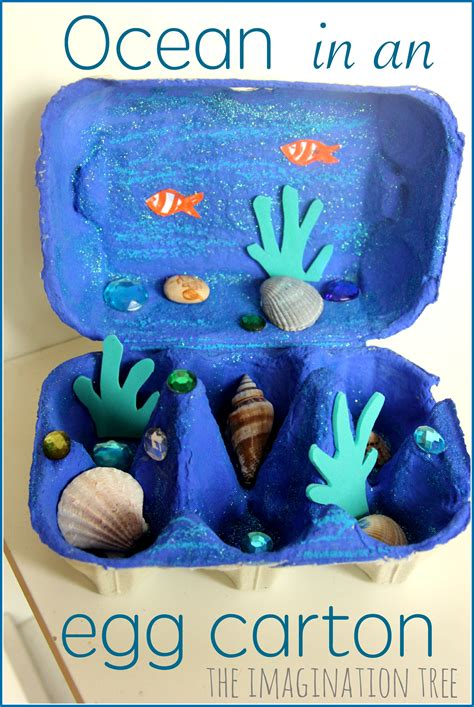 egg craft the imagination tree 407 | Ocean in an egg carton craft for kids