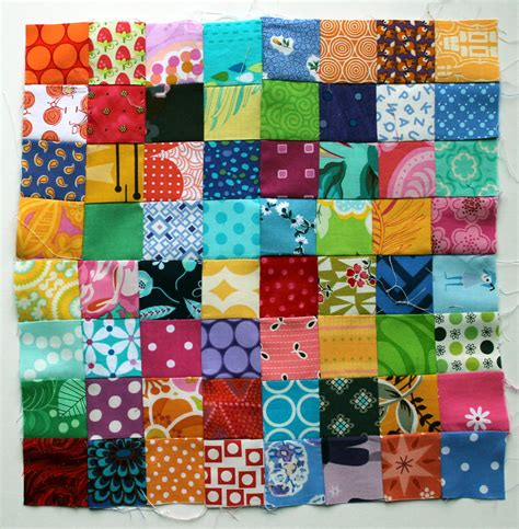 postage stamp quilt block  tutorial postage stamp
