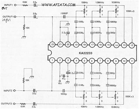 Band Dual Graphic Equalizer Amplifier Circuit