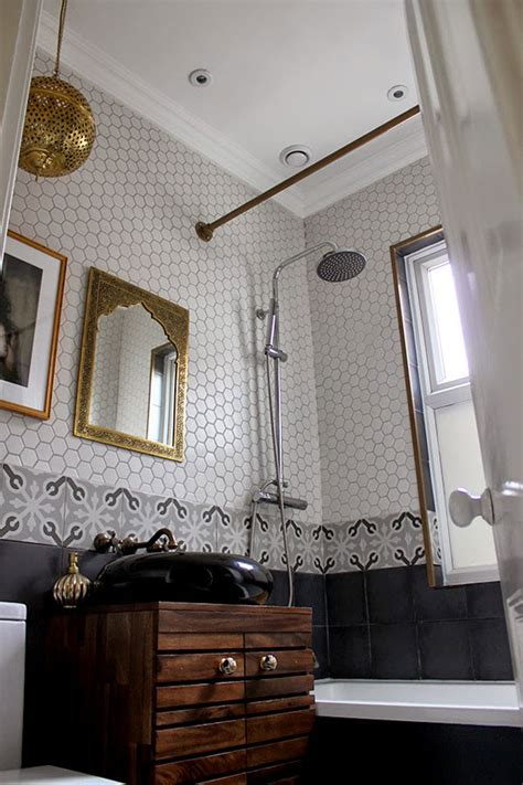 create  antique curtain rod   bathroom remodel