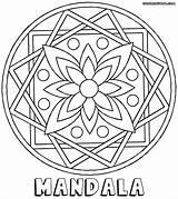 Mandala Coloring Rectangle Flower Template sketch template