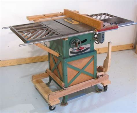 roll up table plans mobile table saw base
