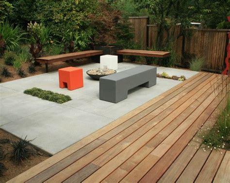 concrete slab  wood deck combo  home ideas