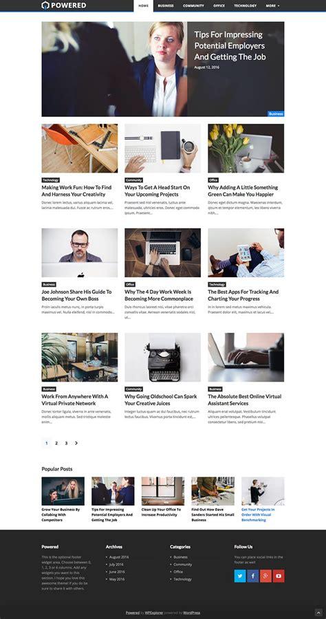 Powered Free Blog Magazine WordPress Theme 2019 - WPExplorer