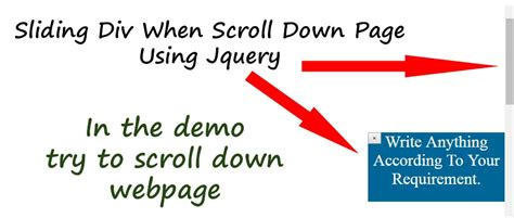 jquery scrolling div sliding div when scroll page using jquery website