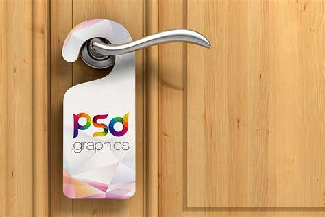 door hanger brackets door hanger mockup free psd psd graphics
