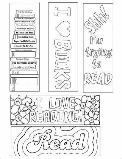 Bookmark Template Blank Reading Coloring Templates Word