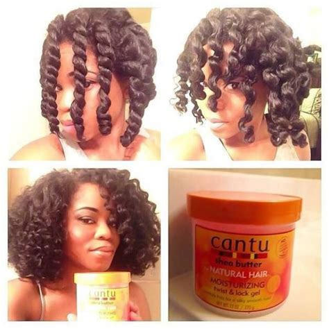 Chunky Twist Out With Cantu Twist And Lock Gel   Black