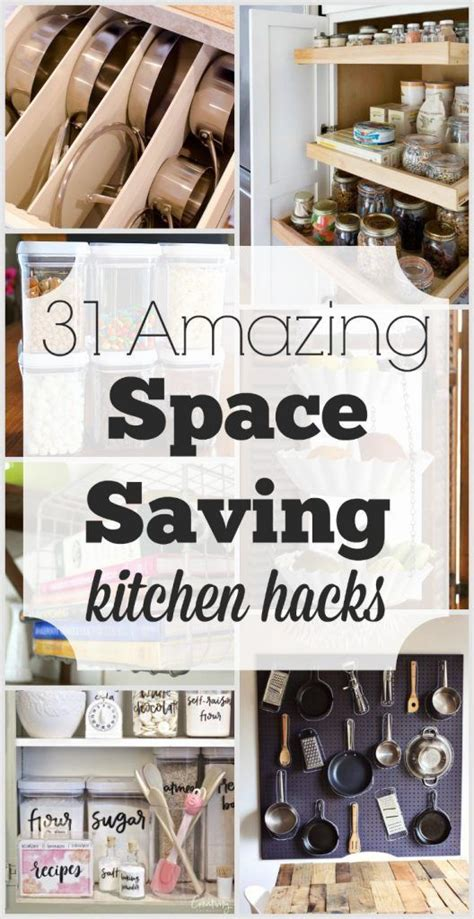Kitchen Hacks Space by 31 Amazing Space Saving Kitchen Hacks Time Management