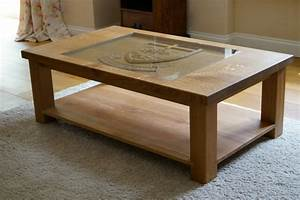 carved oak coffee table makemesomethingspecialcom With handcrafted wood coffee table