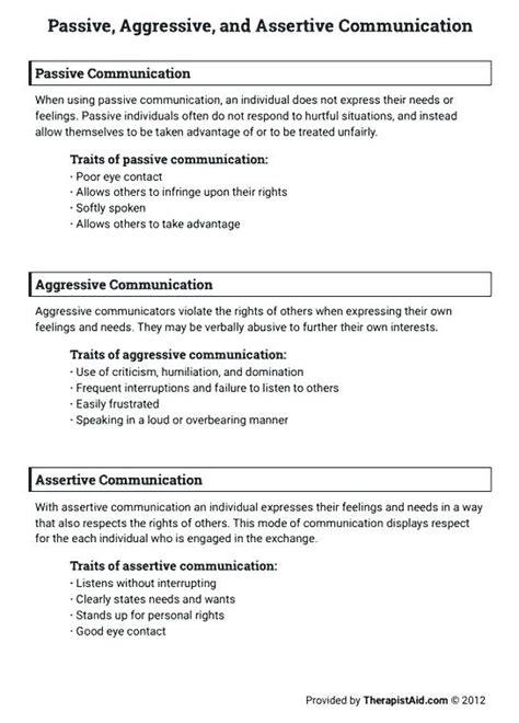 Communication Skills Worksheets For Adults Worksheets