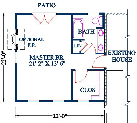 master bedroom addition plan vaulted ceiling