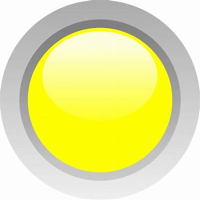 Circle Yellow Led Clker Clip Clipart Vector