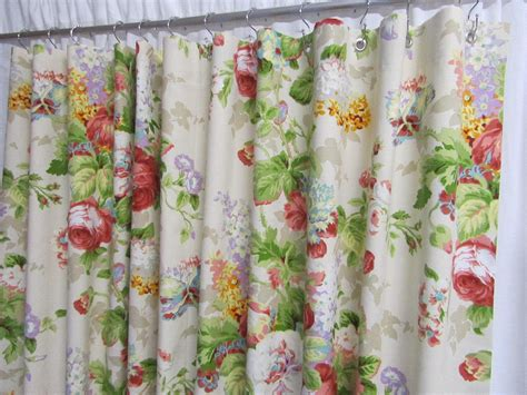 shower curtain flowers cottage shower curtain shabby chic shower curtain floral