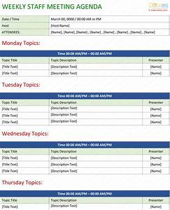 Staff meeting agenda template write an effective agenda for Monthly meeting schedule template