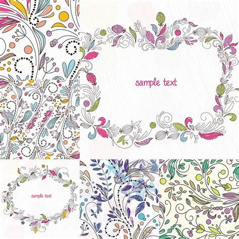 floral frames  prints vector