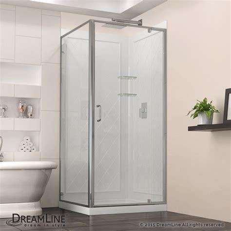 32 Inch Shower Door - dreamline flex 32 quot x 32 quot frameless shower enclosure