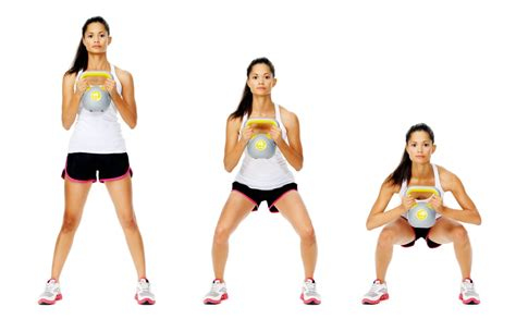 kettlebell squat exercises weight fitness loss