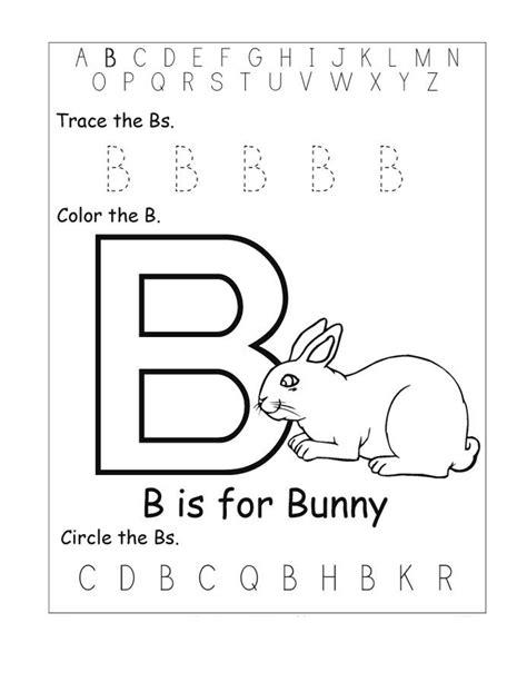 letter b activities trace letter b for preschool kiddo shelter 47720