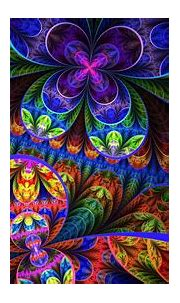 Colorful fractal flowers - Design wallpaper Wallpaper ...